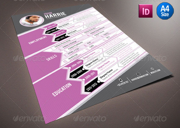 resume template indesign