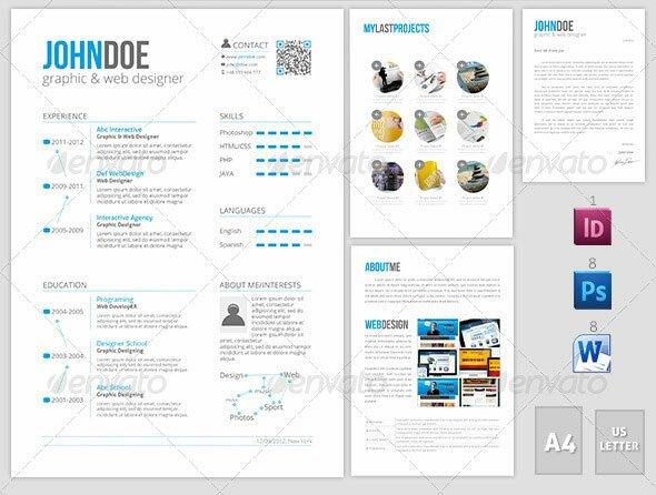 20 creative resume cv indesign templates  u2013 design freebies