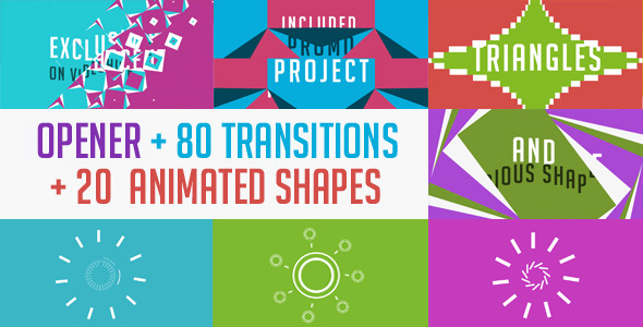 20  cool after effects templates with animated shapes