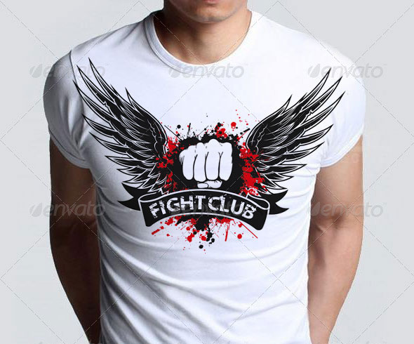 Agressive-Fight-Club-T-shirt-with-Blood-Splatter