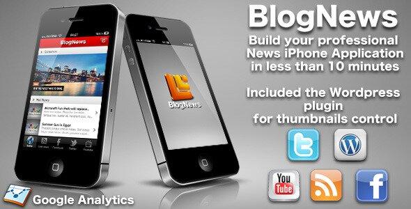 BlogNews iPhone blog app WordPress editions