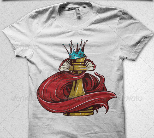 Chess-King-Illustration-T-Shirt