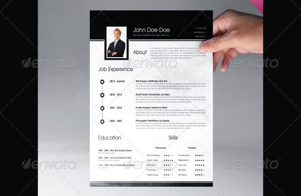 professional resume template 2014