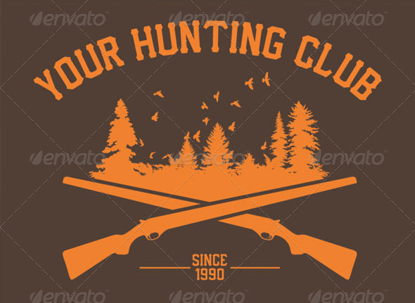 Custom-Hunting-Club-T-Shirt-Design