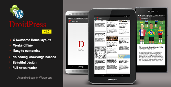 DroidPress Android app for WordPress