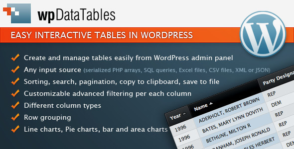wpDataTables responsive tables in WordPress