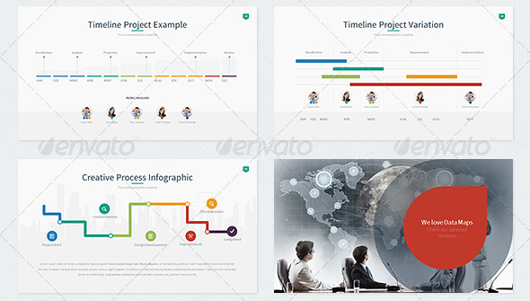 21 beautiful timeline powerpoint presentation templates – design, Modern powerpoint