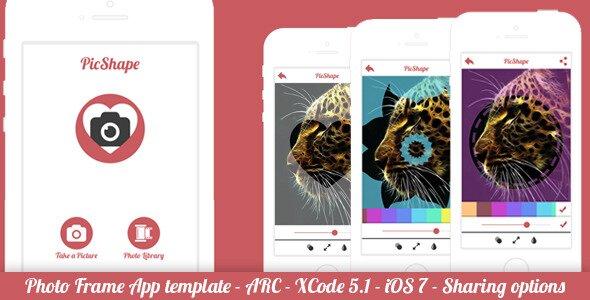 PicShape Frame Image Editor Full App Template