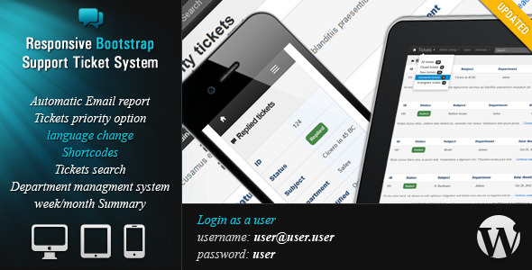 Responsive Ticket System WordPress Plugin