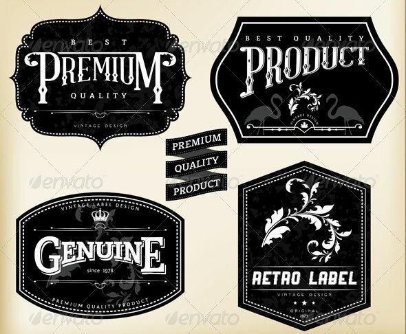 Retro-Labels