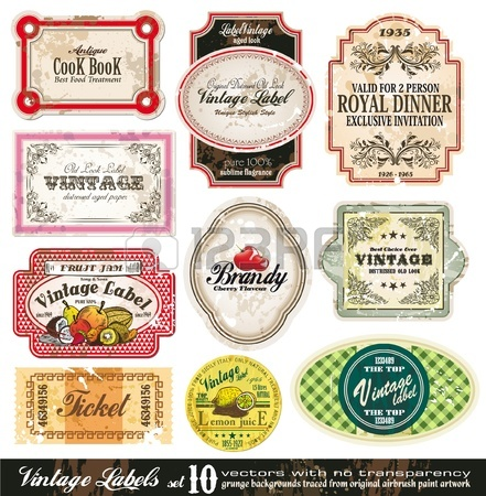 Vector Vintage Labels Collection