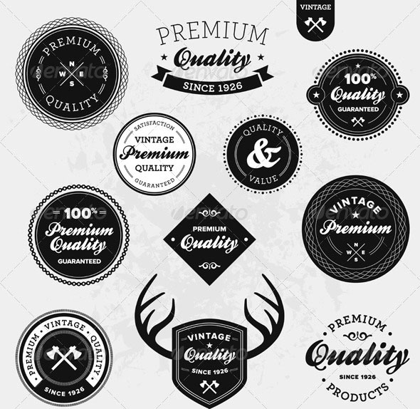 Beautiful Product Label Vector Templates  Eps Ai  Design
