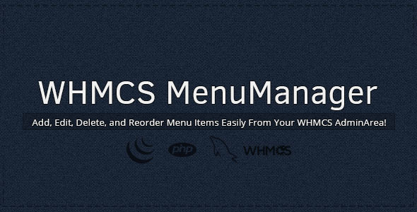WHMCS Menu Manager