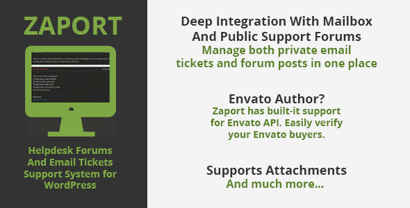 Zaport WP Helpdesk Forum and Ticket Support