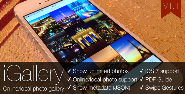 iGallery OnlineLocal Photo Gallery for iOS