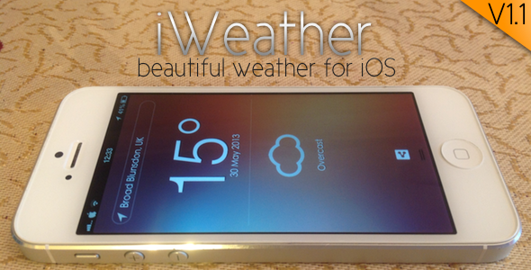 iWeather a beautiful weather client for iOS