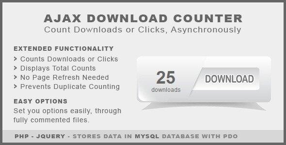 Ajax Download Counter