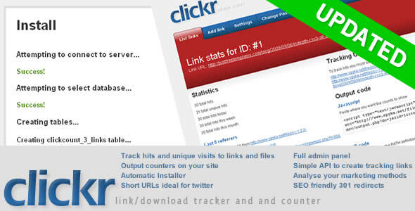 Clickr The link and download counter