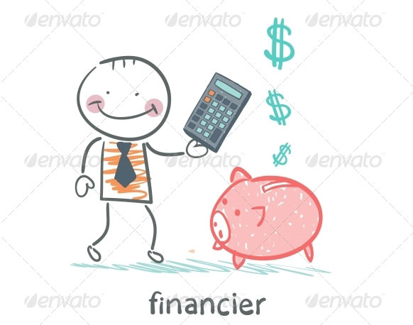 Financier-With-a-Calculator-and-Piggy-Bank