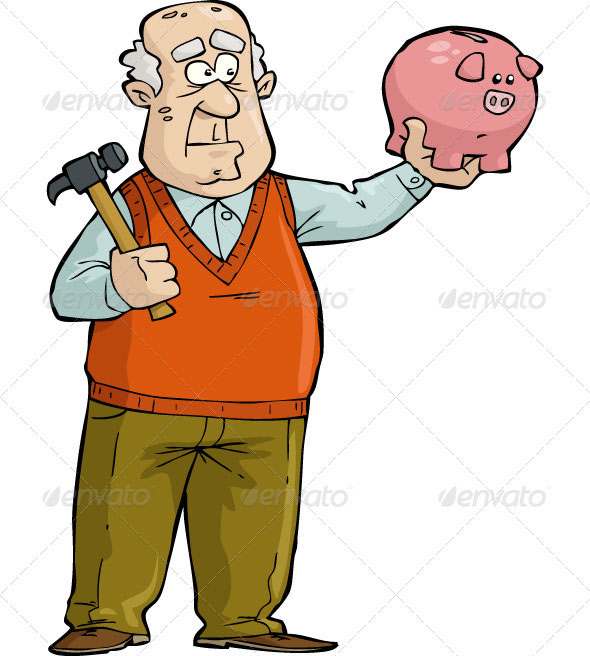 Old-Man-with-Piggy-Bank