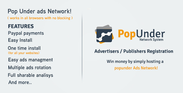 Pop Under Ads Network