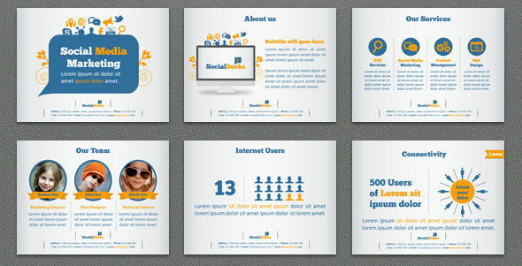 Great Keynote Templates For Social Networking  Design Freebies