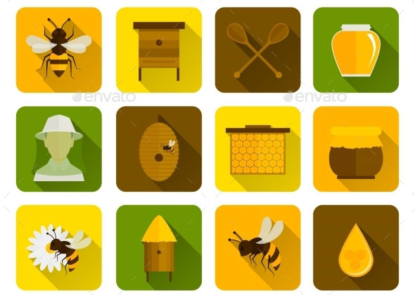 Bee-Honey-Icons-Flat