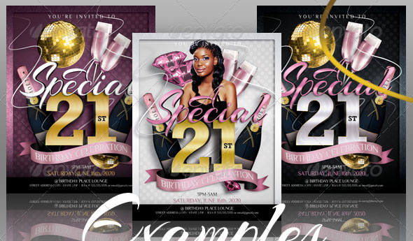 Birthday Invitation Templates 2 – Club Flyer Style