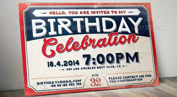 Birthday-Retro-Vintage-Invitation-Card