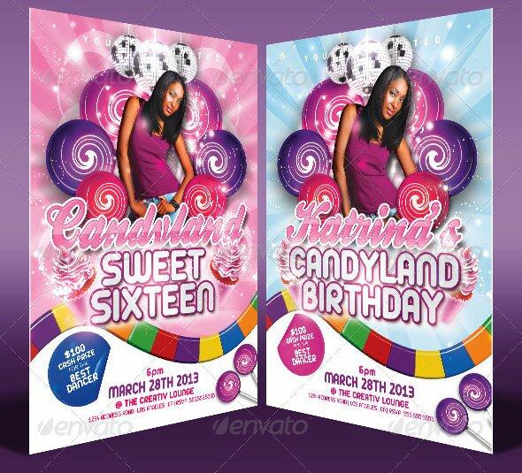 19 great birthday invitation cards psds design freebies candy land birthday invitation templates filmwisefo