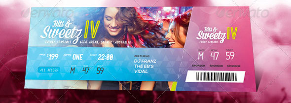 19 Useful Event Tickets Templates Design Freebies – Party Tickets Templates