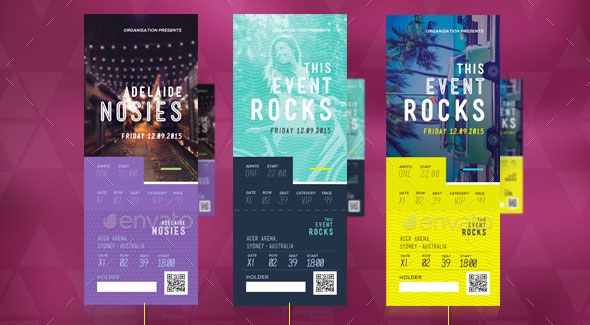19 useful event tickets templates design freebies