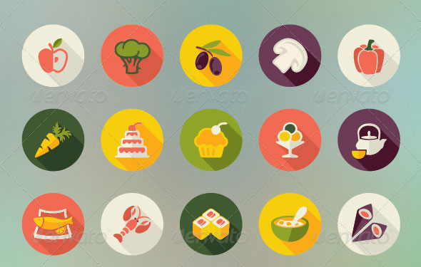Food-and-Drinks-Flat-Icons