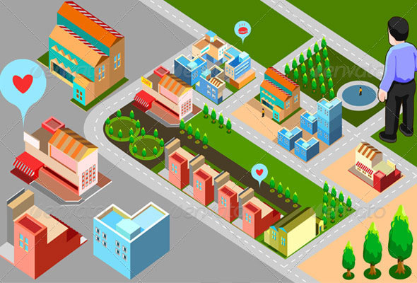 Isometric-Building-Set-Map-Template