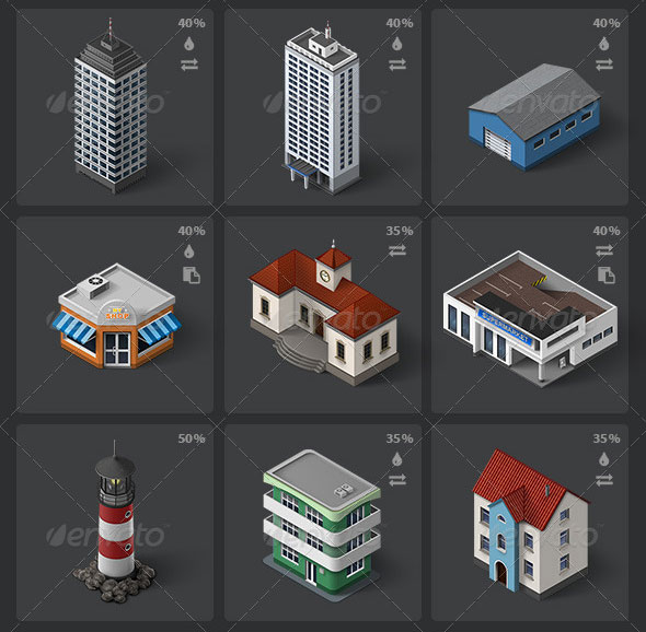 Isometric-Map-Icons-Buildings-and-Places