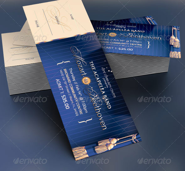 19 Useful Event Tickets Templates Design Freebies – Ticket Design Template