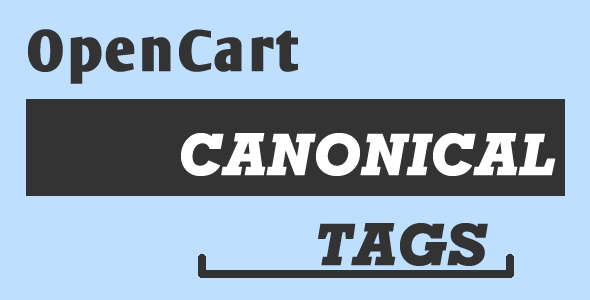 OpenCart Canonical URLs SEO extension