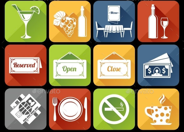 Restaurant-Icons-Set