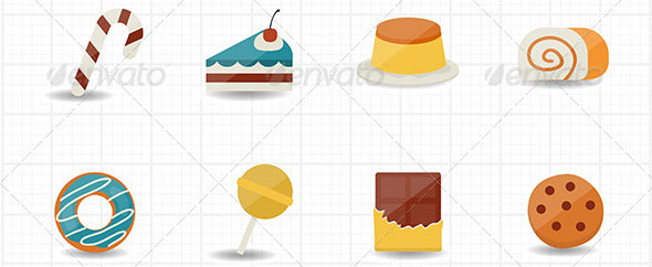 Sweet-Food-and-Sweetmeat-Icons