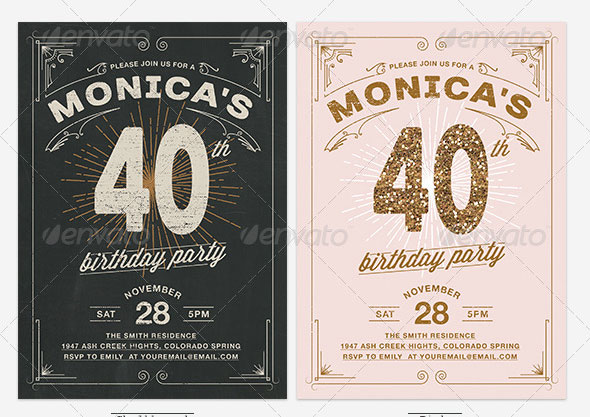 19 great birthday invitation cards psds design freebies vintage typography birthday invitation filmwisefo