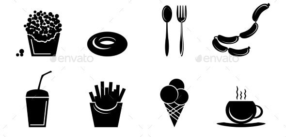 black-Fast-Food-Icons