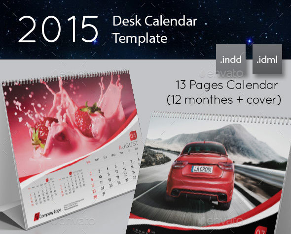 16 Calendar Indesign Templates For Year 2015 Design Freebies