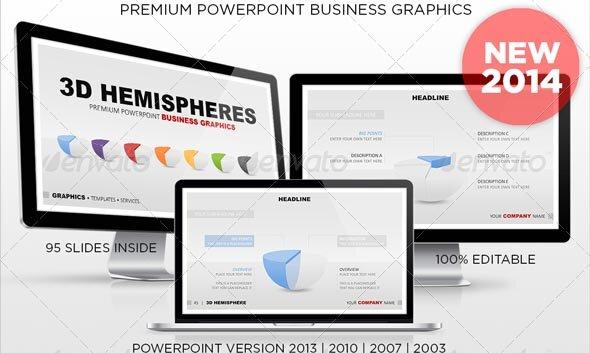 3D Hemispheres powerpoint Business Graphics