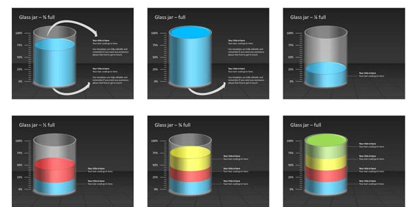 3D Shapes Beaker PowerPoint Template
