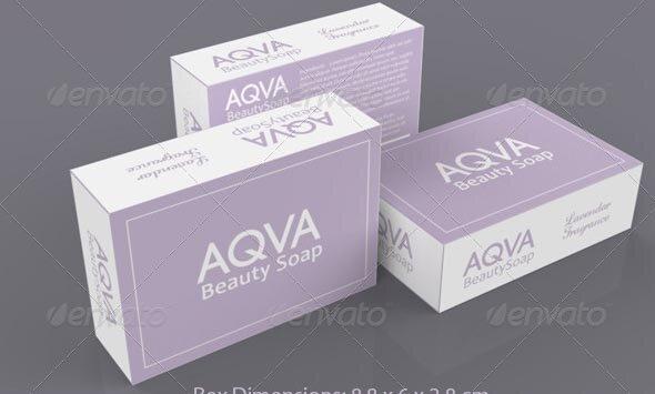 BeautySoap Box Packaging Template