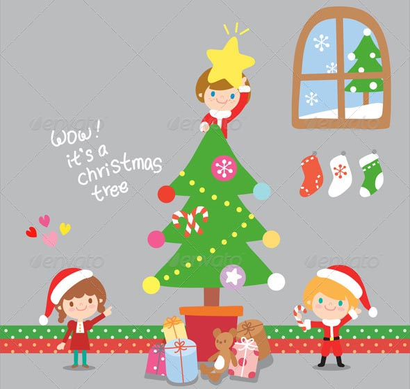 Christmas Kids Illustration