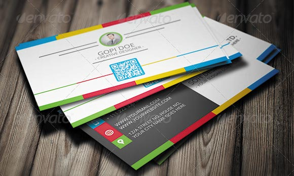 Colorful Business Card Template 01