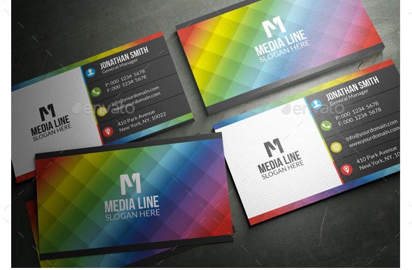 Colorful Business Card