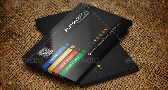 Cool Colorful Business Card