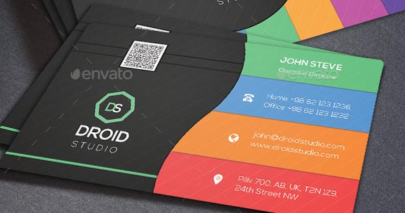 Corporate Colored Business Card